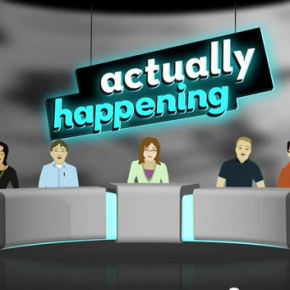 """KinectToPin in Actually Happening's """"Machine Politics"""""""
